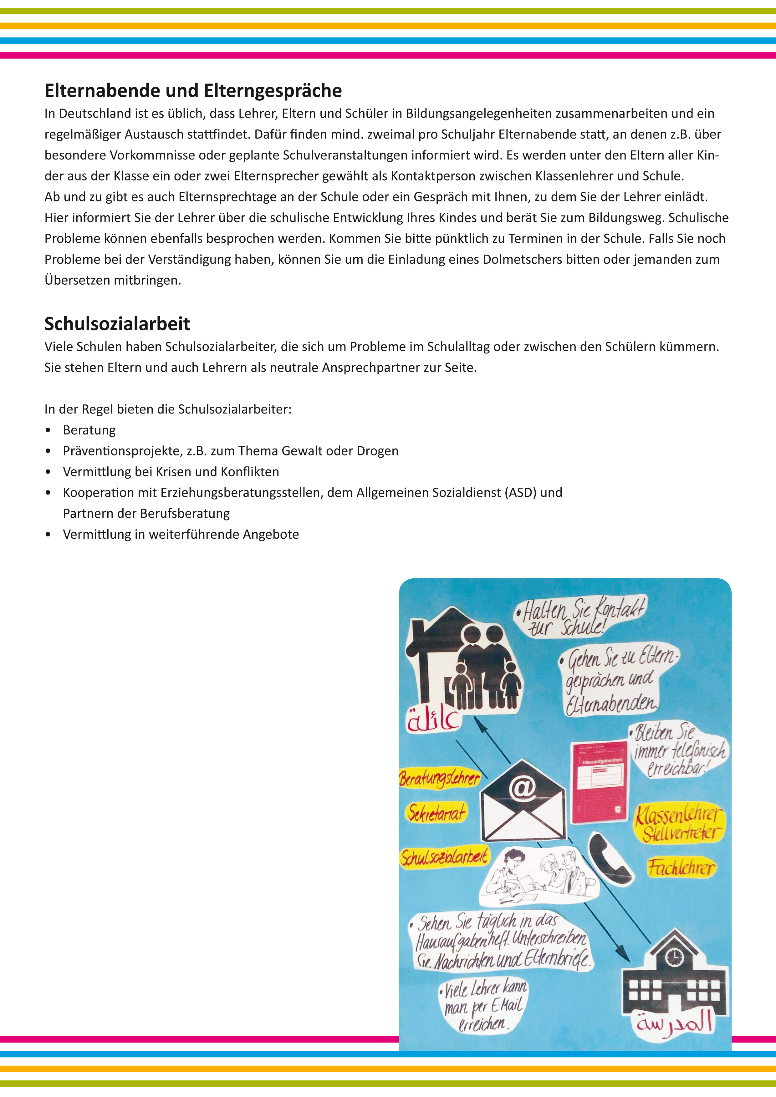 info-material für eltern, Einladung