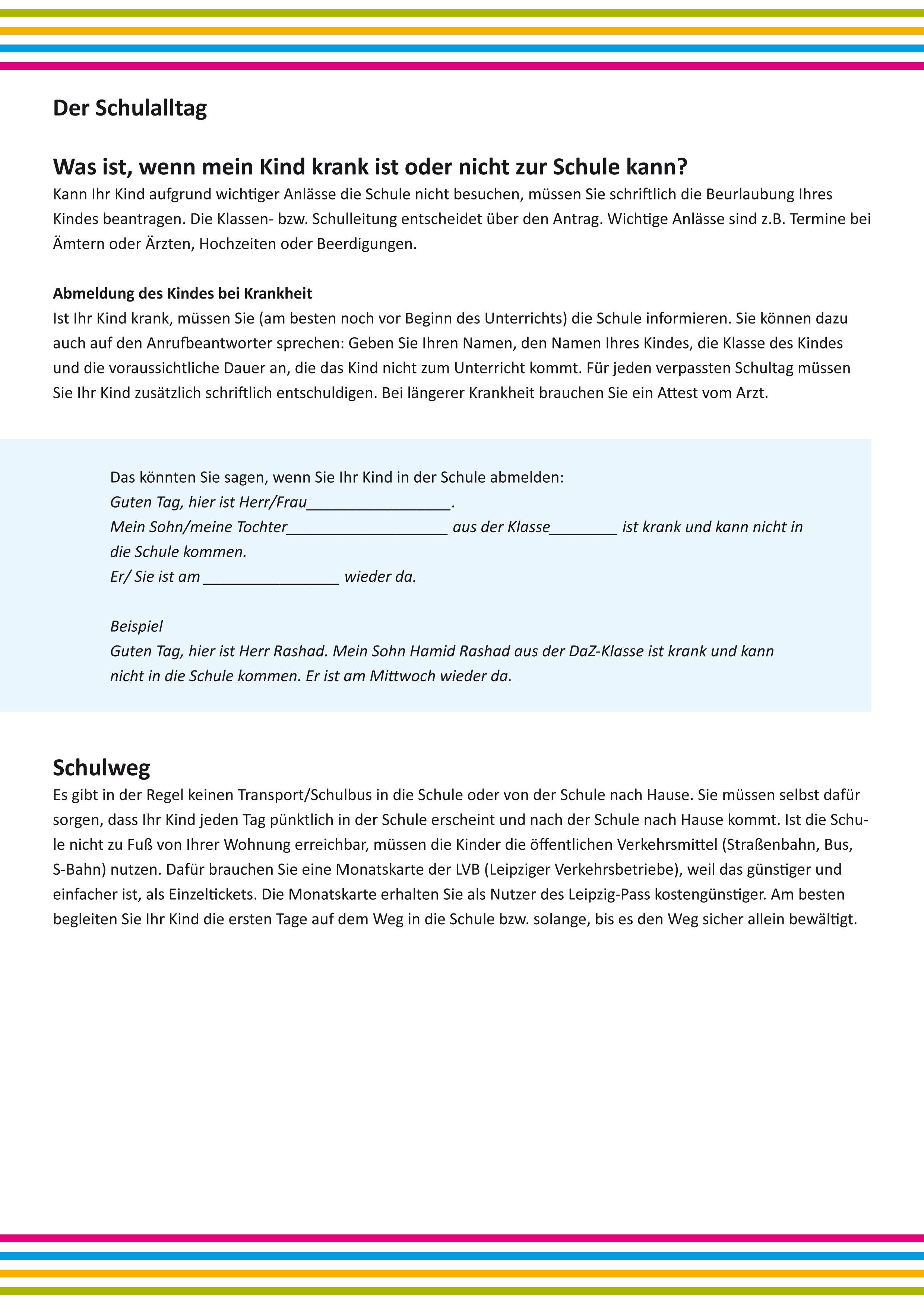 Info-Material für Eltern